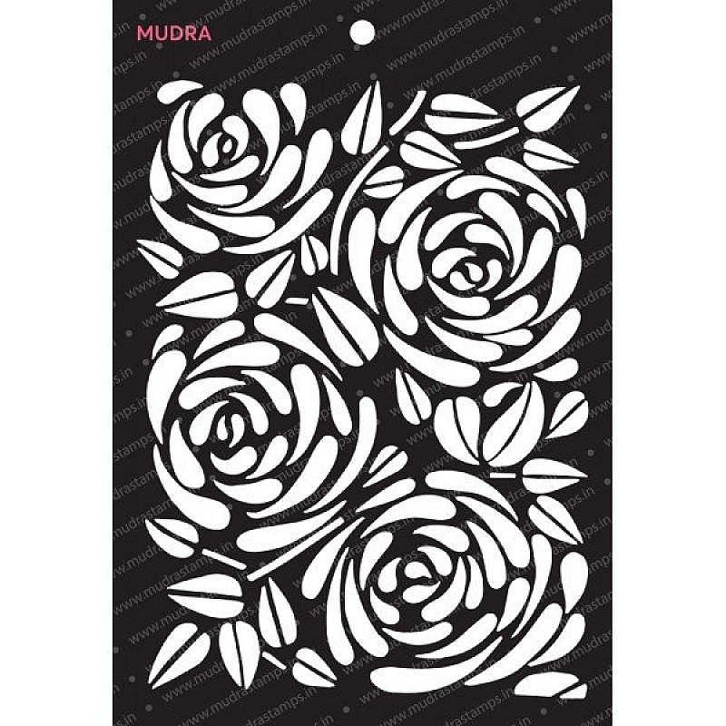Buy Mudra Stencils Floral Abstract Online In India At
