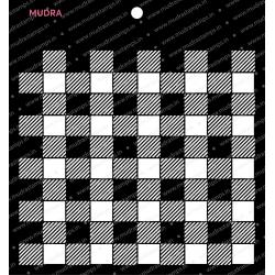 Mudra Stencils - Plaid