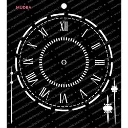 Mudra Stencils - Clock