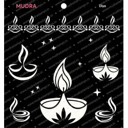 Mudra Stencils - Diya