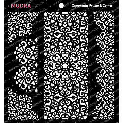 Mudra Stencils - Ornamental Pattern and Corner