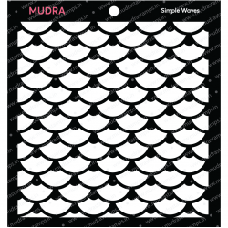 Mudra Stencils - Simple Waves