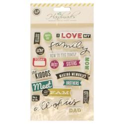 3D Stickers by LianFa  - Love my Family