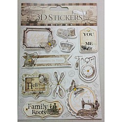 3D Stickers by Eno Greeting - Design 6