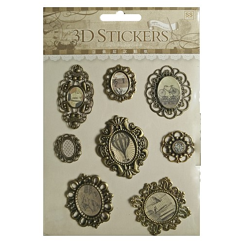 3D Metallic Stickers by Eno Greeting - Design 3