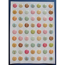 Alphabets Stickers - Candy Tones