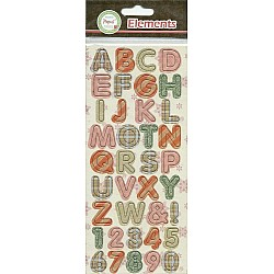 Papus Sticker Elements - Alphabets (Pink & Green)