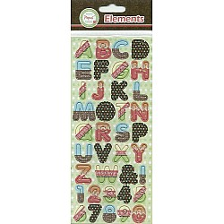 Papus Sticker Elements - Alphabet (Blue, Red & Black)