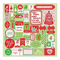 "Authentique Jolly Christmas Cardstock Stickers 12""X12"""