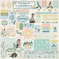 "Authentique Meadow Cardstock Stickers 12""X12"""