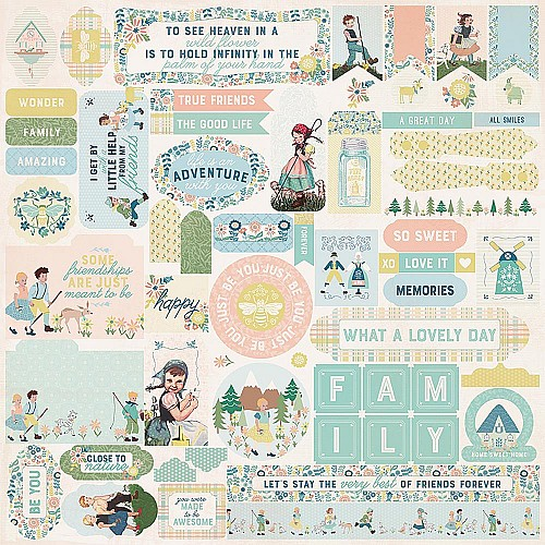 """Authentique Meadow Cardstock Stickers 12""""X12"""""""