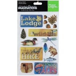 Creative Imaginations Epoxy Stickers - Wilderness Trip