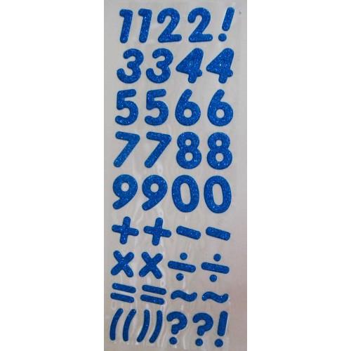 Glitter Number - Dark Blue