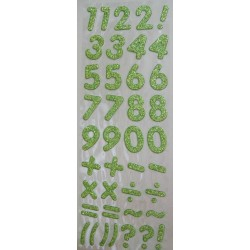 Glitter Number - Green