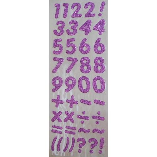 Glitter Number - Lavendar