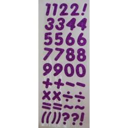 Glitter Number - Purple