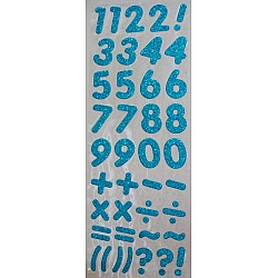 Glitter Number - Turquoise