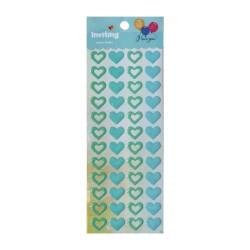 Inviting Epoxy Stickers - Blue Hearts