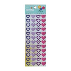 Inviting Epoxy Stickers - Pastel Hearts