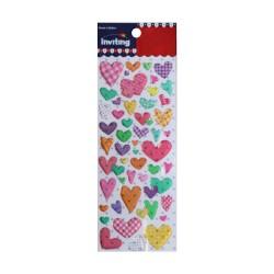 Inviting Epoxy Stickers - Colored Hearts