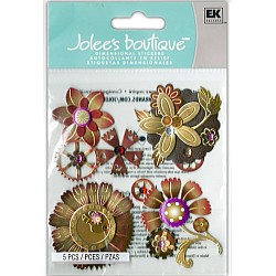 Jolee's Boutique - Steampunk Flowers Dimensional Stickers