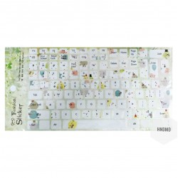 Keyboard Stickers - Colorful Birds