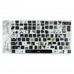 Keyboard Stickers - Black and White Cats
