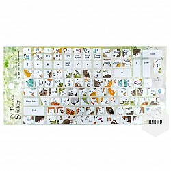 Keyboard Stickers - Colorful Animals