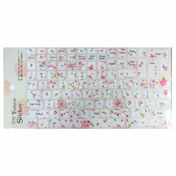 Keyboard Stickers - Pink Flowers