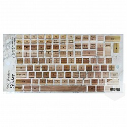 Keyboard Stickers - Wooden Background