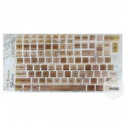 Keyboard Stickers - Wooden Background