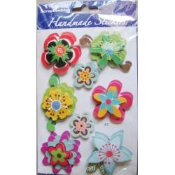 Dimensional Flower Sticker - Multicolor