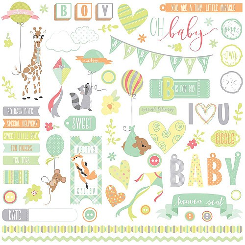 """Photoplay Sticker - About a little Boy Stickers 12""""X12"""""""