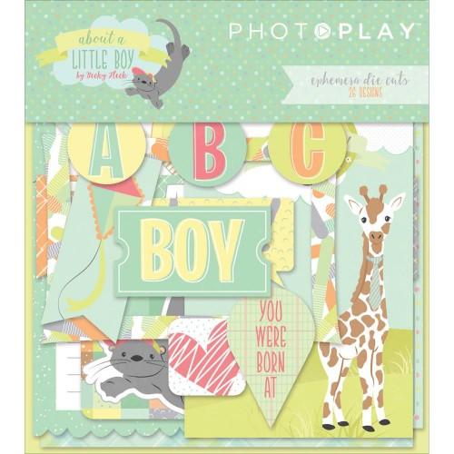 Photoplay cardstock Ephemera Pack - About A Little Boy (26/pkg)