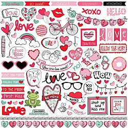 "Photoplay Sticker - Love Notes Stickers 12""X12"""