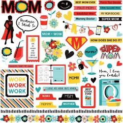 "Photoplay Sticker - Best Mom Ever Stickers 12""X12"""