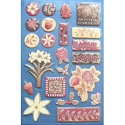 Creative Imaginations Stickers - Poinsettas