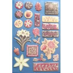 Creative Imaginations Stickers - Poinsettas