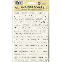 """Julie Nutting Mixed Media Stickers 5""""X8.5"""" - Word Strips"""