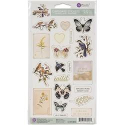 Prima Marketing Nature Lover Chipboard Stickers 39/Pkg