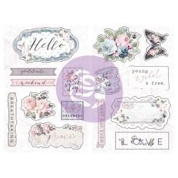 Prima Marketing Poetic Rose Chipboard Stickers 15/Pkg