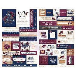 Prima Marketing - Darcelle Stickers 55/Pkg - Quotes & Words