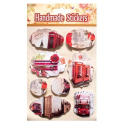 Vintage London Tags Sticker