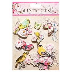 3D Stickers by Eno Greeting - Flowers and Birds