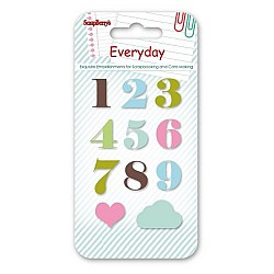 Scrapberrys Epoxy Sticker - Everyday Numbers