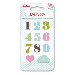 Scrapberrys Epoxy Sticker - Everyday Numbers