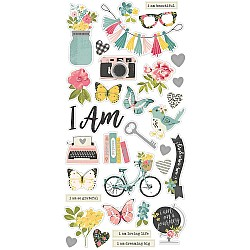 """Simple Stories I am chipboard Stickers 6""""X12"""""""
