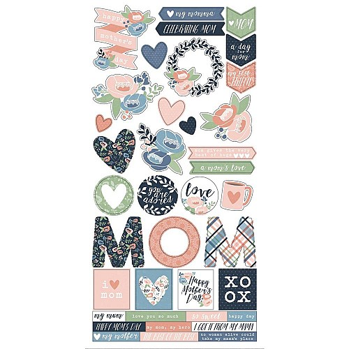Simple Stories Moms Day Cardstock Stickers 6X12