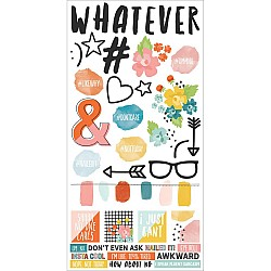 Simple Stories whatever Cardstock Stickers 6X12