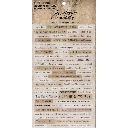Tim Holtz Idealogy Clipping Stickers